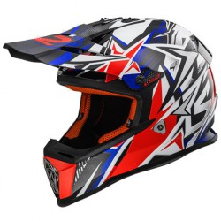 KASK LS2 MX437 FAST STRONG WHITE BLUE RED