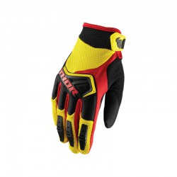 RĘKAWICE THOR S8 SPECTRUM YELLOW/BLACK SENIOR