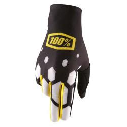 Rękawice 100% CELIUM BLACK/YELLOW
