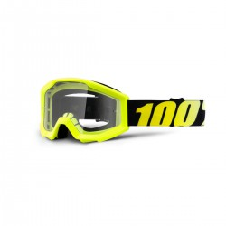 GOGLE 100% THE STRATA NEON YELLOW YOUTH