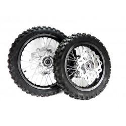 Koła 12/14' komplet aluminiowe czarne