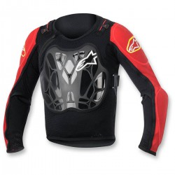 OCHRANIACZ ALPINESTARS YOUTH BIONIC JACKET BLACK/RED
