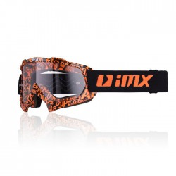 GOGLE IMX MUD GRAPHIC ORANGE/BLACK (DRUGA SZYBA W ZESTAWIE)