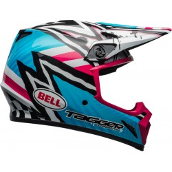 Kask BELL MX-9 MIPS TAGGER ASYMETRIC BLUE/PINK