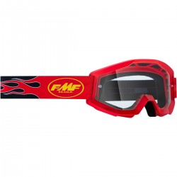 GOGLE FMF VISION Youth Flame Red - Clear